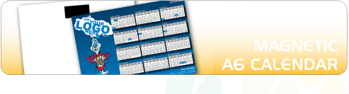 Magnetic A6 Calendars